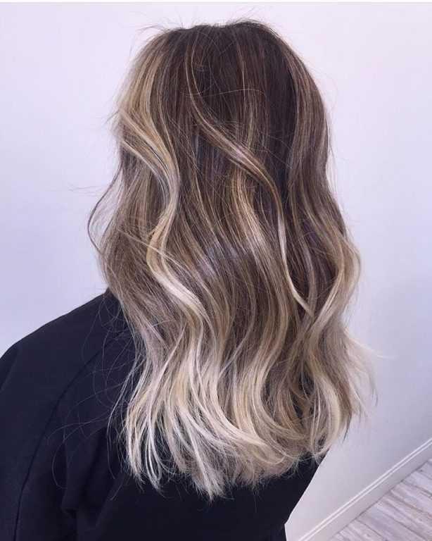 Как сделать балаяж на русые волосы средней длины фото и способы