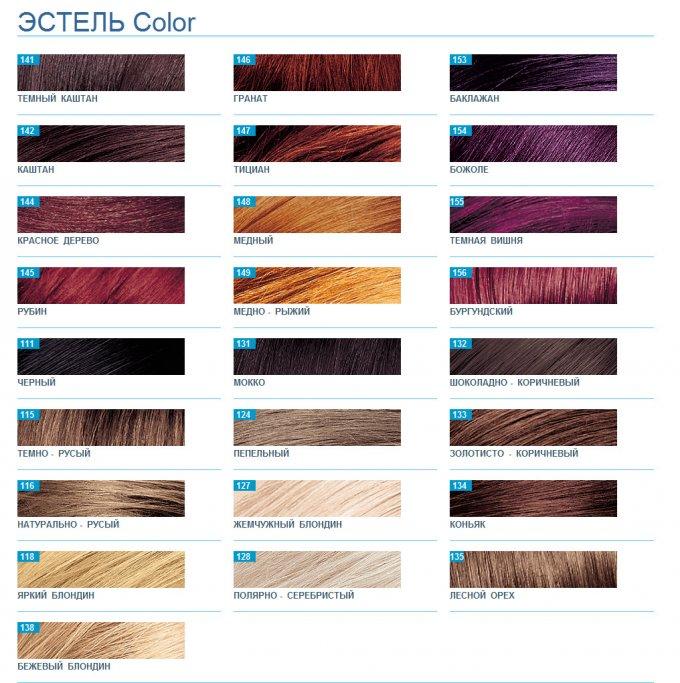 Палитра Эстель Color - краска для волос