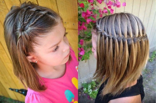 Плетение косичек для девочек своими руками для начинающих. Инструкции на короткие, средние, длинные волосы. Фото, видео-уроки