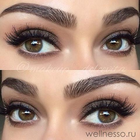 Простые тени для карих глаз
