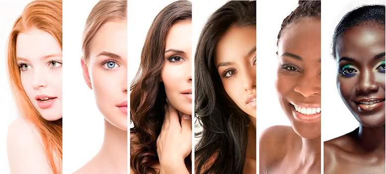 Разные фототипы кожи