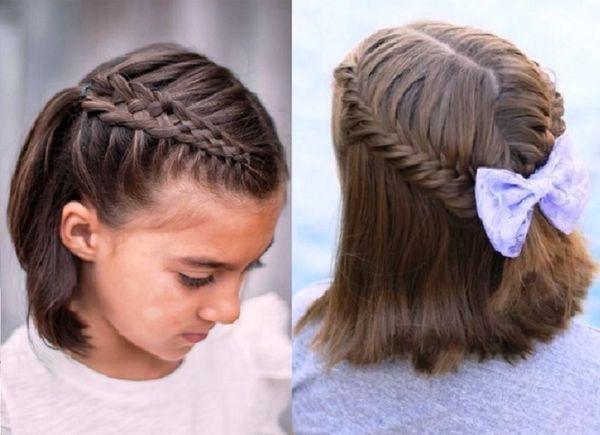 прически на 1 сентября для старшеклассниц на короткие волосы