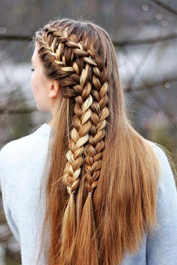косы на 1 сентября на длинные волосы фото