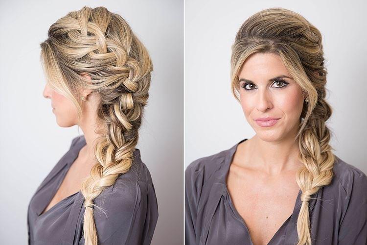 Объемная боковая коса - Прически на длинные волосы на каждый день