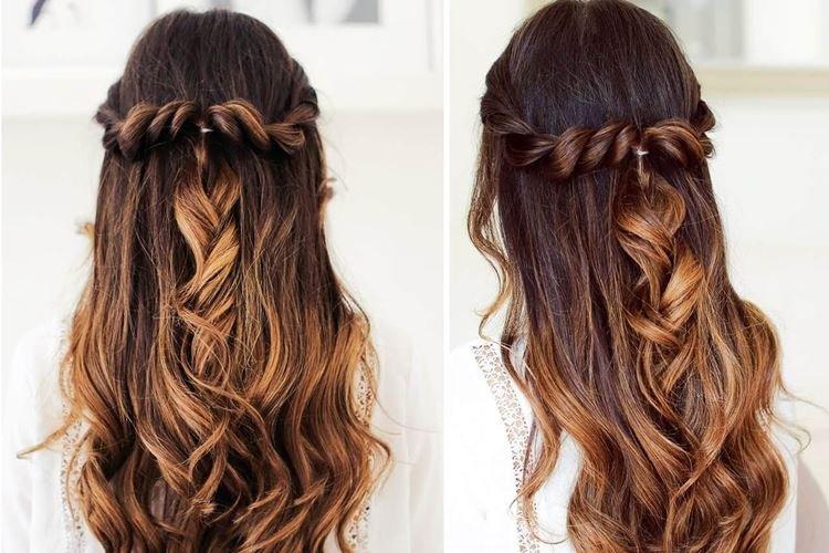 Мальвинка со жгутами - Прически на длинные волосы на каждый день