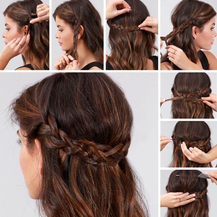 Ободок на всю голову - Прически на каждый день на средние волосы
