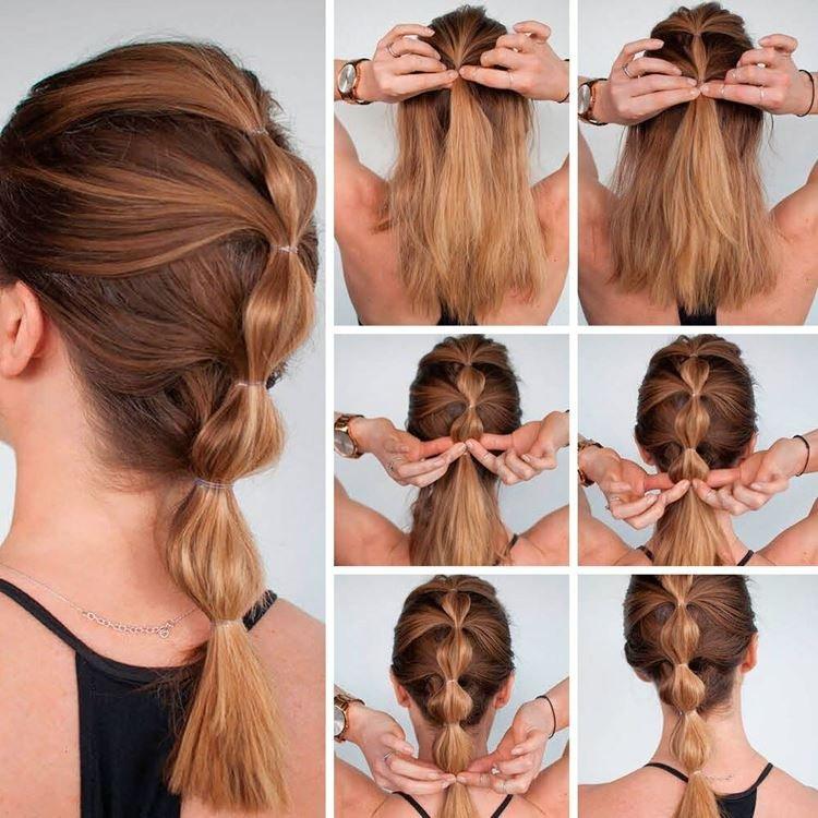 Волнистый хвост - Прически на каждый день на средние волосы