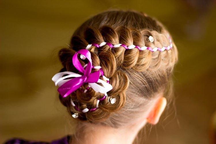 Свободная косичка-змейка - Прически на средние волосы для девочек