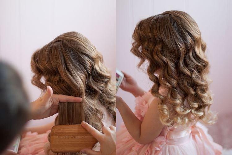 Прическа принцессы - Прически на средние волосы для девочек