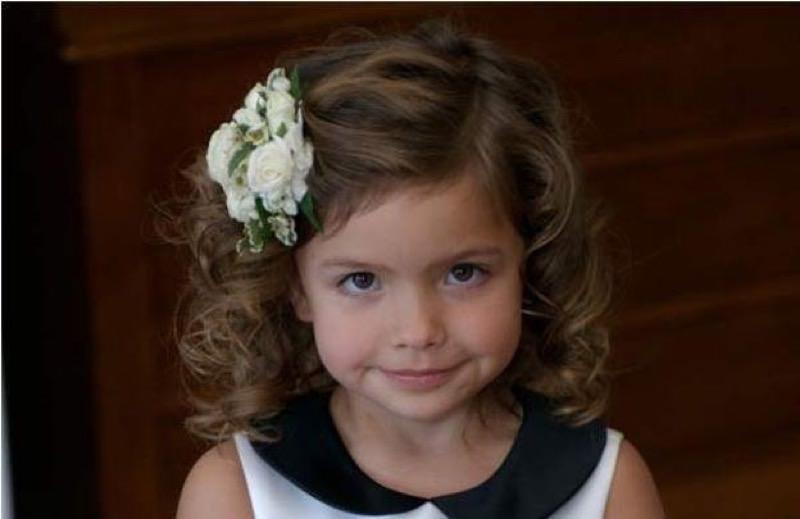 Кудри на короткие волосы для девочек