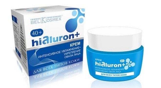Белорусский крем для лица после 40 лет «Hialuron+» от BelKosmex