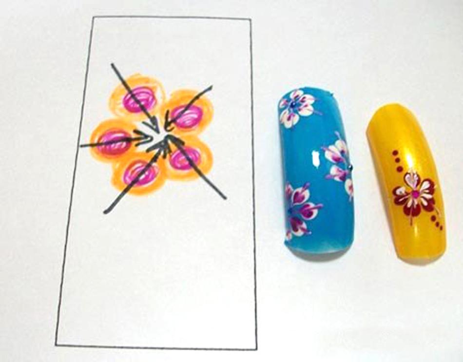 Схема прорисовки вензеля в виде цветка