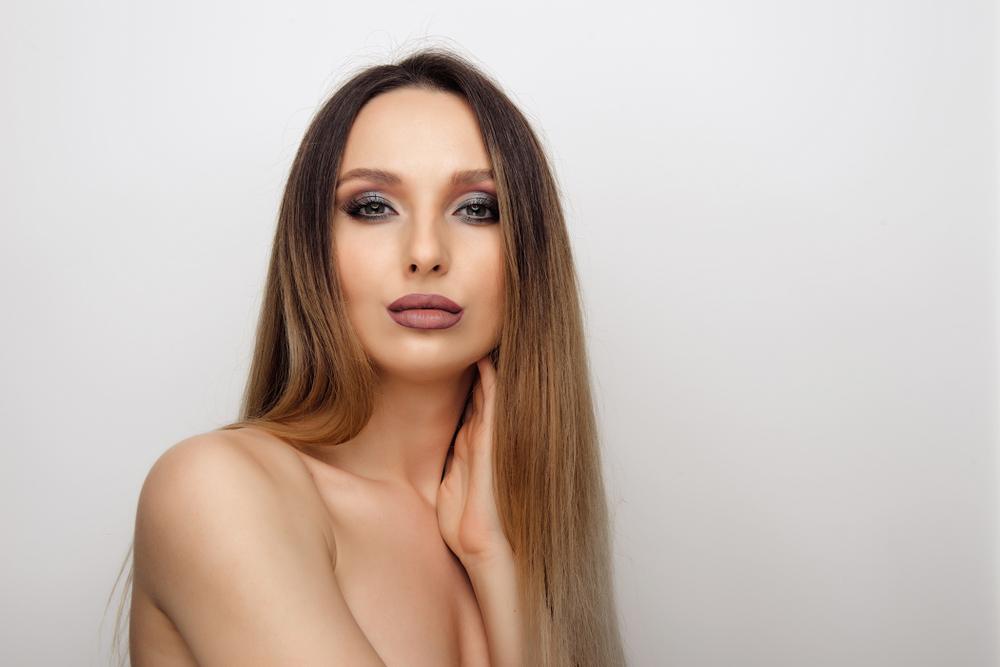 Окрашивание шатуш на темные прямые волосы