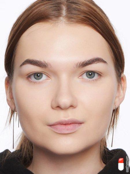 макияж для круглого лица
