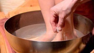 Соляная ванночка для ног
