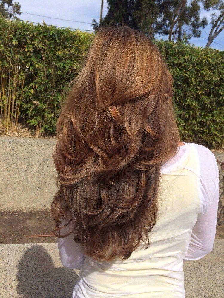 стрижка «Каскад» на длинные волосы 2020 2021 года