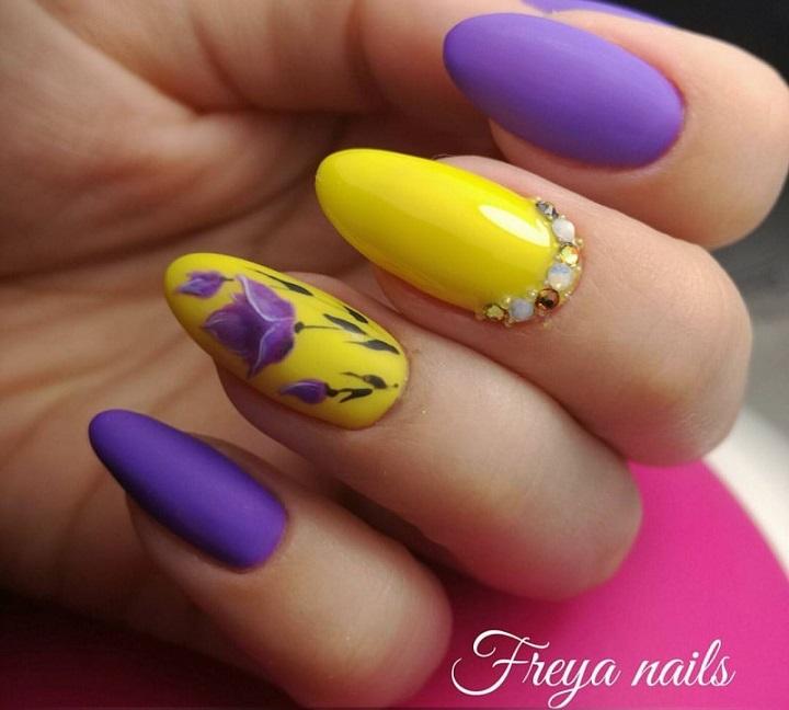 Татьяна марфина климовск ( россия ) цветы на ногтях фото