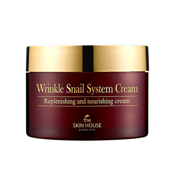 Антивозрастной крем с муцином улитки The Skin House Wrinkle Snail System Cream