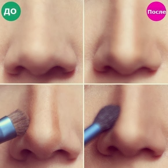 Уменьшение носа с помощью автозагара