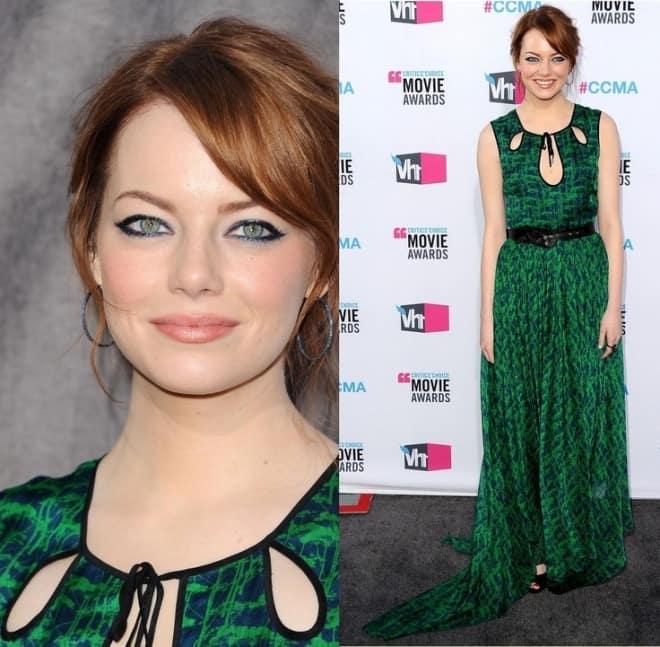 Макияж под зеленое платье для зеленых глаз