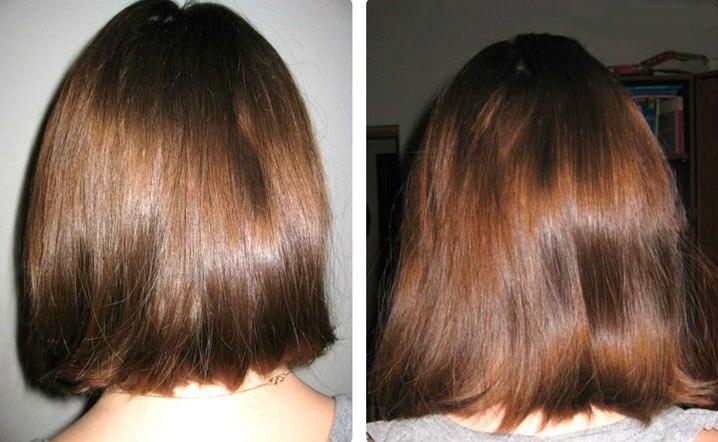 волосы до и после касторового масла фото 3