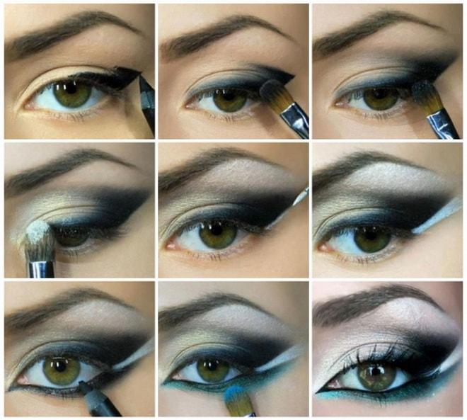 Как делать восточный макияж смотрите на видео