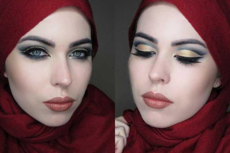 Восточный макияж на карие глаза