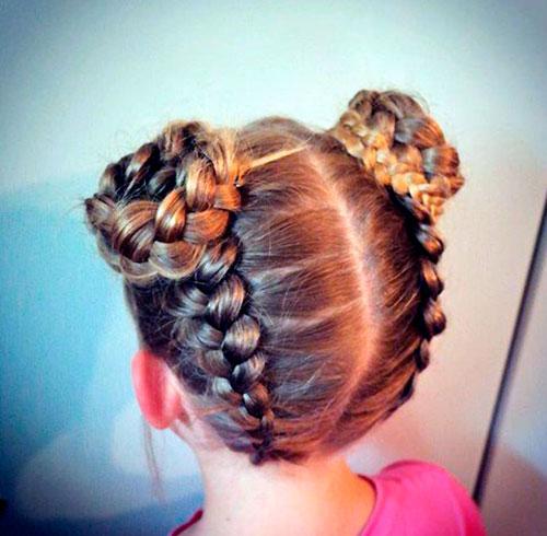 Вывернутая коса у девочки