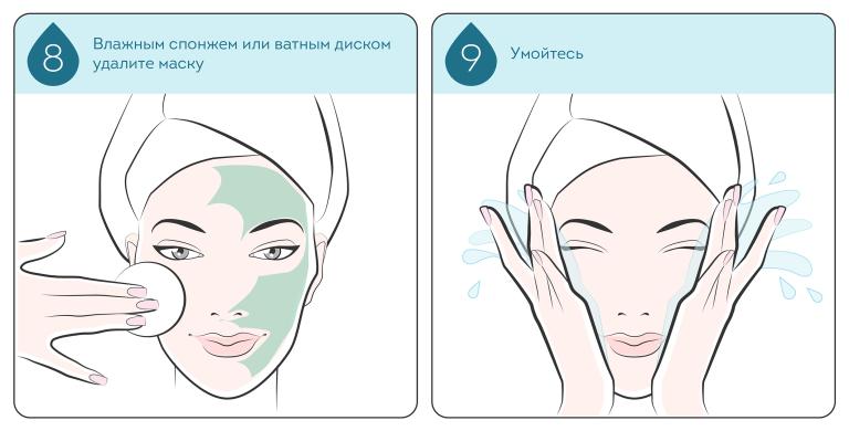 как смыть очищающую маску