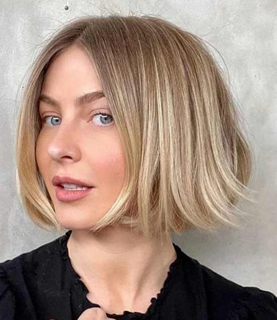 Каре короткое блондинка